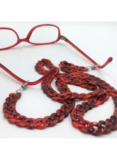 Happy Accessories Happy Accessories Kadın Sedefli Akrilik Gözlük Zinciri Renkli